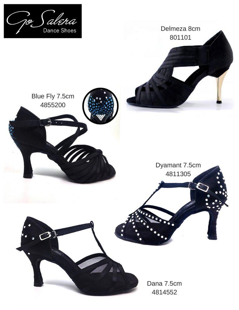 Zapatos de baile negros de calidad